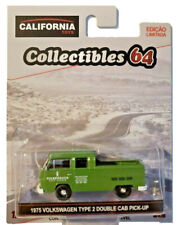 Greenlight California Toys Brazil 1975 Volkswagen Type 2 Double Cab Pickup 1:64