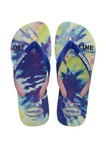 Havaianas Women's Top Fashion Flip Flop Sandals - Multi Blue NWT