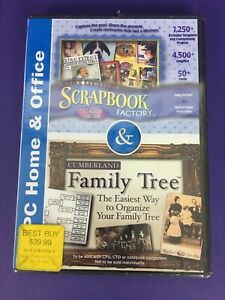 Art Explosion Scrapbook Factory & Cumberland Family Tree PC & Home Office New