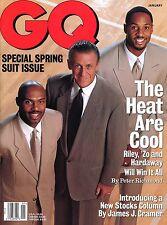 "Pat Riley - Alonzo Mourning - Tim Hardaway ~ 1998 GQ Magazine ""Suits"" ~ New!"