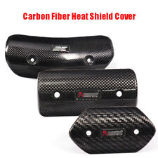 Carbon Fiber Motorcycle Exhaust Mid Pipe Heat Shield Guards Protector Heel Cover