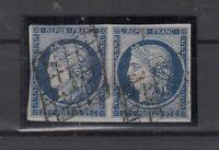 Bi6348/ FRANCE – CERES – Y&T # 4a USED PAIR – CV 185 $