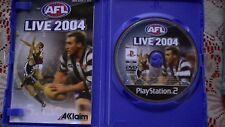 AFL LIVE 2004 - PS2  30 DAYS WARRANTY.