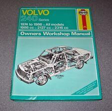 Volvo 240 Series Petrol Car Owners Workshop Manual Haynes 1974 - 1986 Reg