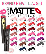 Hot! New! 9 Pcs La Girl Matte Flat Velvet Lipsticks Smooth,soft 26 bold shade