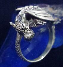 Dragon Bague Argent 925 Gothique Latex Dragon 1 Silver