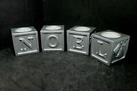Noel Tea Light Candle Holders  A Touch of Silver Christmas