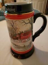 Anheuser B 00004000 usch Budweiser An American Tradition 1990 Holiday Beer Stein Mug