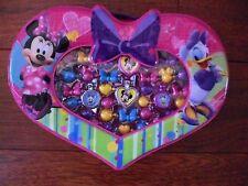 Minnie Mouse Snap Jewelry Bead set Disney Heart Case Kids Jewelry