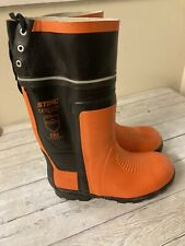 New boxed Stihl chainsaw special rubber wellington boots size 10.5 only