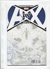 AVENGERS VS. X-MEN #12 (9.2) SKETCH VARIANT COVER!