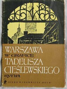 WARSZAWA W GRAFICE Cieslewski WARSAW IN GRAPHICS Warschau   1964   antykwariat
