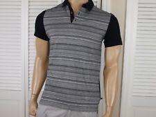 CALVIN KLEIN Authentic Auto Multi Stripe Polo Shirt Black NWT