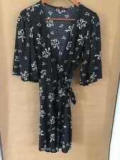 betsey johnson dress size 8 black with white bows