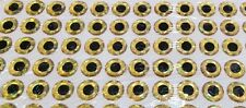 90pcs 14mm Gold 3D Holographic Fishing Lure Eyes. Fly Tying, Jigs, Crafts, Dolls