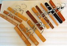 12 Wooden Pants Hangers Non Slip Slack Skirt Hangers Montrose Diplomat