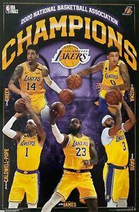 Lakers 2020 NBA Champions Poster 24 x 36  Lebron James Anthony Davis Kyle Kuzma