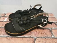 Sergio Todzi ladies sandals black with embellishments size 40/ UK 7