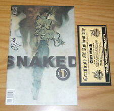 Snaked #1 VF/NM signed by cliff meth with Midtown Comics COA idw comics dayglo