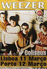 Weezer 2002 Portugal Original Jumbo Concert Poster