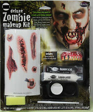 ZOMBIE TATTOOS MAKEUP DELUXE KIT Teeth Scabs Scary Monster Gore Walking Dead NEW