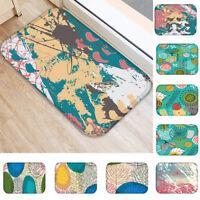 ALS_ Tree Leaves Anti-Slip Bath Door Floor Mat Rug Kitchen Carpet Decor 40x60cm
