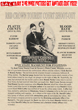 BONNIE AND CLYDE~POSTER WANTED GANGSTER ROB BANK PARKER BARROW BONNIE CLYDE LAW