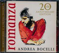 Andrea Bocelli Romanza remastered CD NEW 3 extra tracks 20th Anniversary Edition
