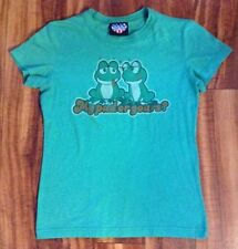 """Authentic Junk Food T-Shirt Frogs My Pad or Yours? Womens Jrs """"L"""" EUC FREE SHIP!"""