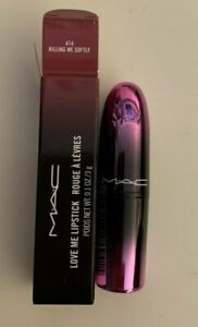 MAC Love Me Lipstick Killing Me Softly 414 authentic full size BRAND NEW IN BOX