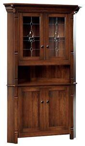 Custom US Hand Made | Solid Hard Wood | Conewago | Corner Hutch | Cabinet