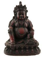 Statue tibetaine  Jambhala Dieu des Richesses Vaishravana 15cm Bordeaux 25534