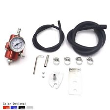 Universal Red Aluminum Adjustable 0-140PSI Fuel Pressure Regulator +Gauge+ Hose