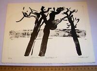 3 Lithographien Oskar Koller Nürnberg handsigniert + 2 Drucke 6 Signaturen