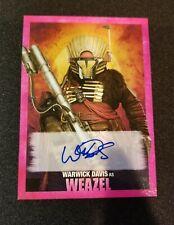 Topps Star Wars Autograph Warwick Davis as Weazel /99