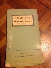 Road Map of South East England C Brewe & Sons Ltd Vintage Fold Out Map