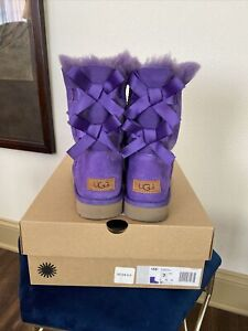 UGG Bailey Bow II PURPLE US 7 NIB