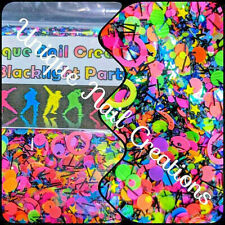 Limited Ed GlitterMix~BLACKLIGHT PARTY~With Alloy~Nail Art/Body Glitter/festival