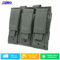 Gray Triple Double Stack Pistol Magazines Pouch MOLLE PALS Adjustable Flaps