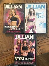 New In Plastic Set Of 3 Jillian Michaels Workout Dvd's Cardio, Hard Body, Mommy