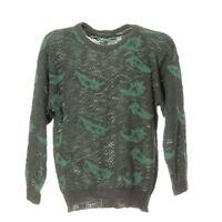 Damen Strickpullover Sweater Größe L Sweatshirt Pullover Vintage Retro Muster