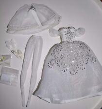 Barbie Silkstone Fashion PRINCIPESSA White Wedding Dress / Gown MINT
