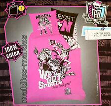 Monster High Wende Bettwäsche Fright on Pink mit Reißverschluß NEU/OVP