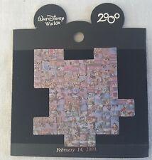 WDW Disney Photo-Mosaic Collage February 14 2000 Lg. Puzzle Piece Pin