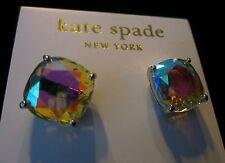 Kate Spade AMAZING AURORA BOREALIS IRIDESCENT SILVER STUD EARRINGS MULTI COLOR