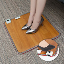 Electric Foot Warmer Carpet Pad Heated Thermostat Floor Mat Office Waterproof