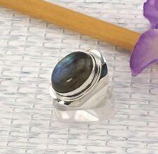 Echte Edelstein-Ringe mit Labradorit und Cabochon für Unisex