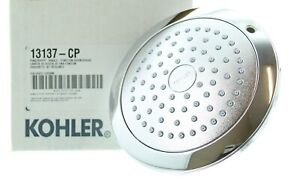 Kohler Pinstripe Showerhead, Single-Function, Polished Chrome K-13137-CP