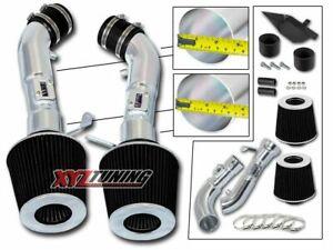 "3.5"" BLACK Heat Shield Cold Air Intake + Filter For 09-16 370Z/08-13 G37 3.7L V6"