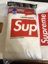 """Supreme Hanes White RED 4 Pack Boxer Briefs XL Extra Large 40""""-42"""" SS18"""